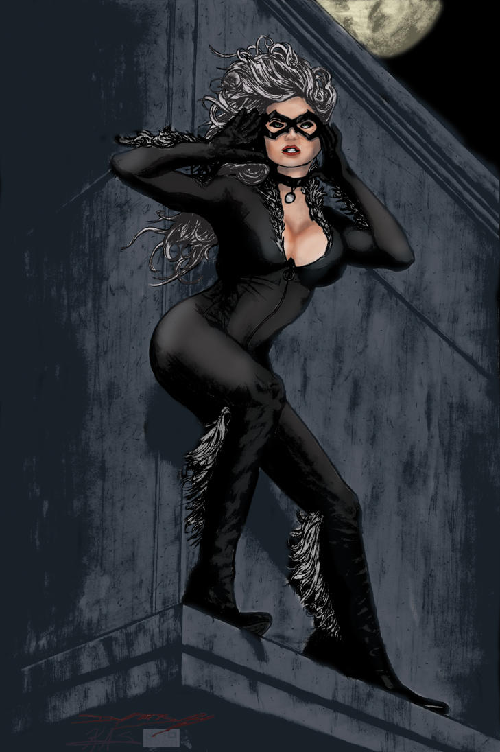 Black Cat In The Wind by ThePrincessNightmare