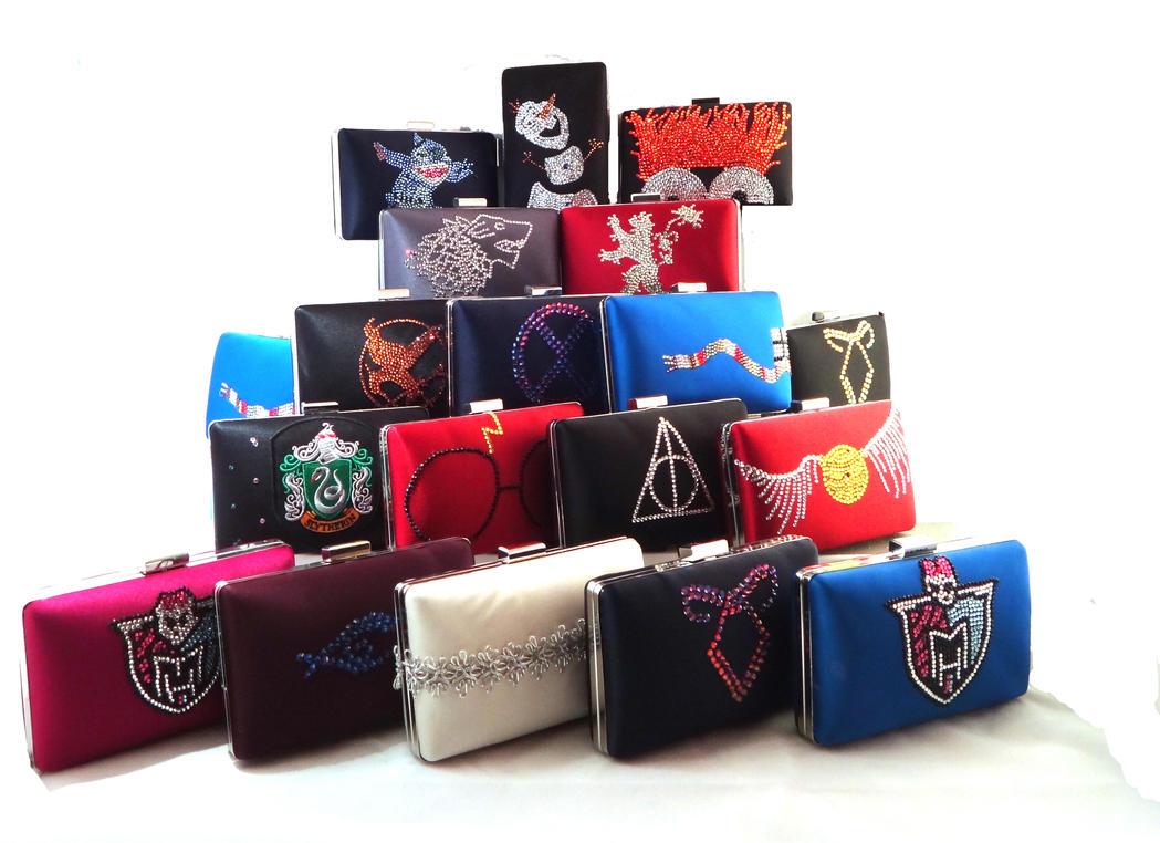Swarovski Crystal Custom and Fandom bags by ThePrincessNightmare