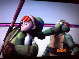 Raph back off she's Donnie's xD by Mikichan17
