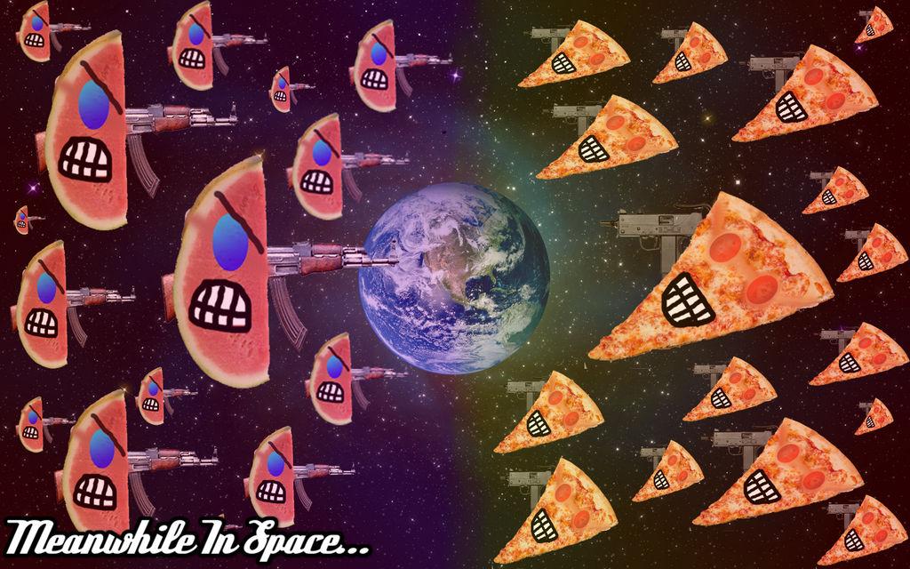 Pizza vs watermelon