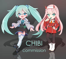 FIXED PRICE [CHIBI COMMISSIONS OPEN] by YushikuQ