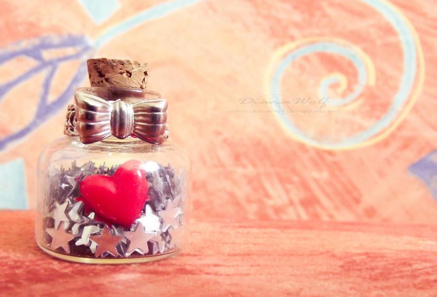 A bottle of heart by DianaVVolf