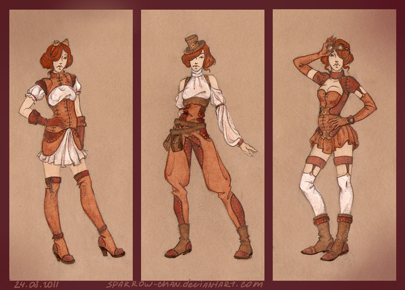 Steampunk collection by sparrow-chan