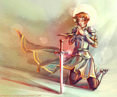 Joan of Arc in pray by sparrow-chan
