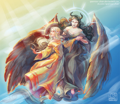 Sun and moon: Aurora and Maleficent