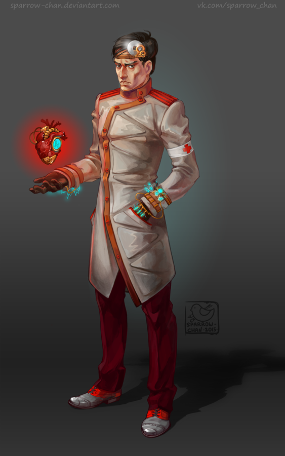 Steampunk medic by sparrow-chan
