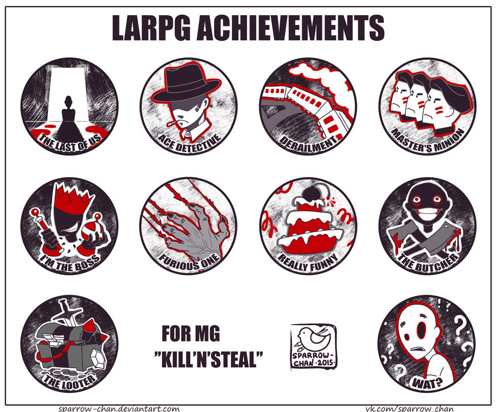 LARPG achievements by sparrow-chan