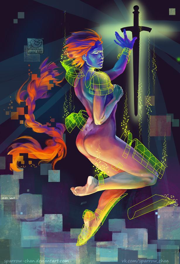 Cyberpunk Joan of Arc by sparrow-chan