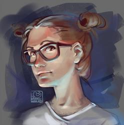 Face challenge#2 - geek girl