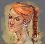Face challenge#3 - warrior woman
