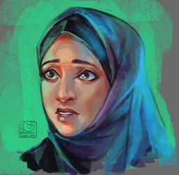 Face challenge#9 - arabian woman meet West culture