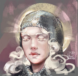Face challenge#12 - albino girl