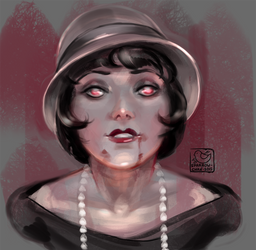 Face challenge#15 - vampire from 20s