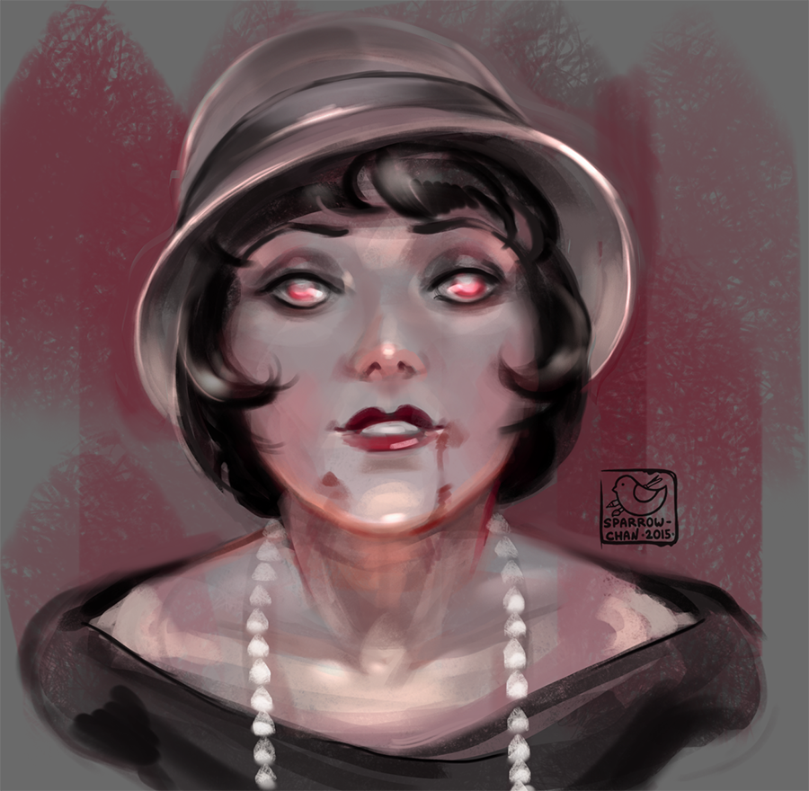 Face challenge#15 - vampire from 20s by sparrow-chan