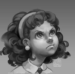 displesed girl