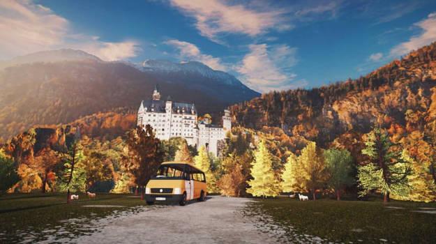 MMD Stage DL | Neuschwanstein Forest