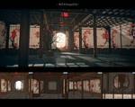 MMD Stage DL   Plum Room/Moon Window