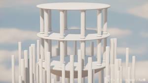 MMD Stage DL   Stone pillar floating island