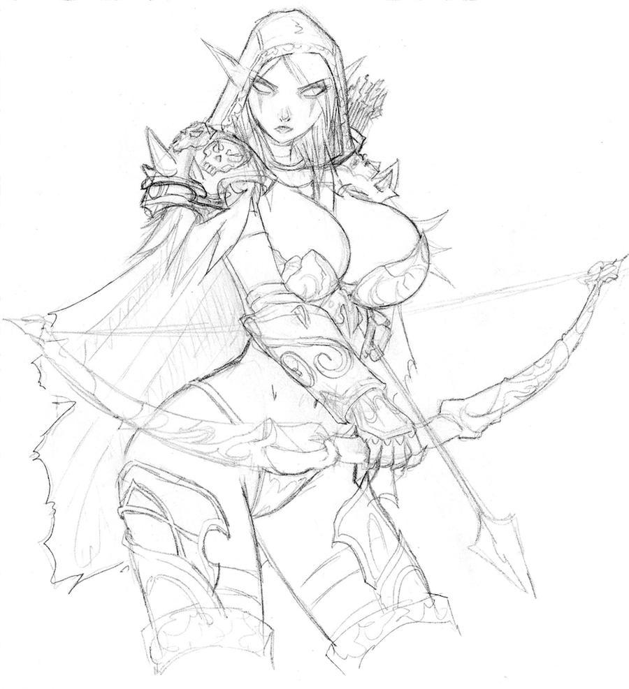 Scan Manga Warcraft: Sylvanas Windrunner WIP By Devil-V On DeviantArt