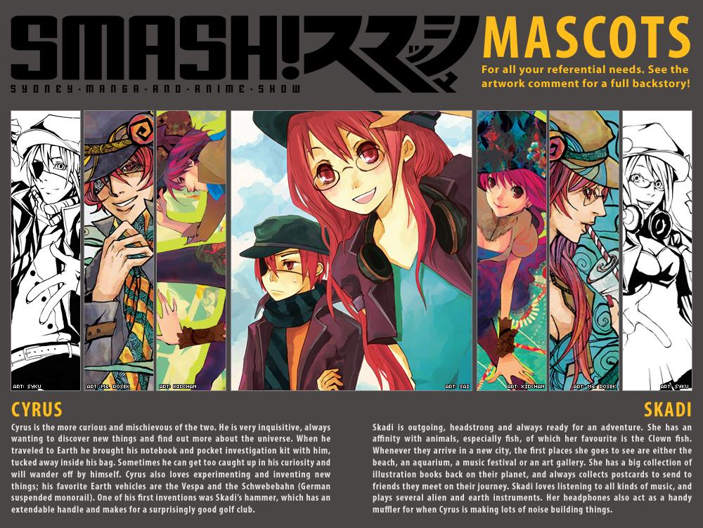 SMASH mascots by kimiko