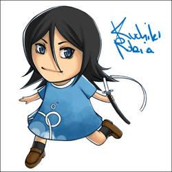 Chibi Rukia of d00m - Coloured by kimiko