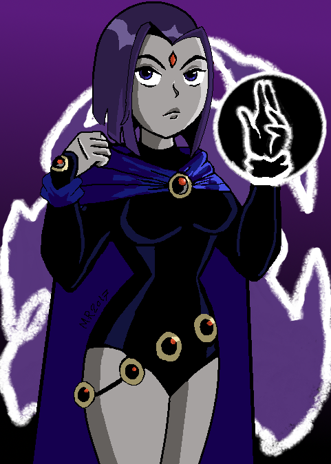 Raven (Ms Paint) by Marmartota2001