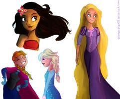 Princesses by WaterbenderGirl96