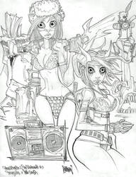 Tank Girl X Red Sonja by Gambear1er