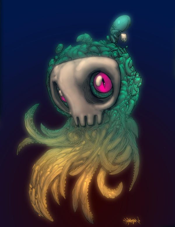 SKULL SQUID by Gambear1er