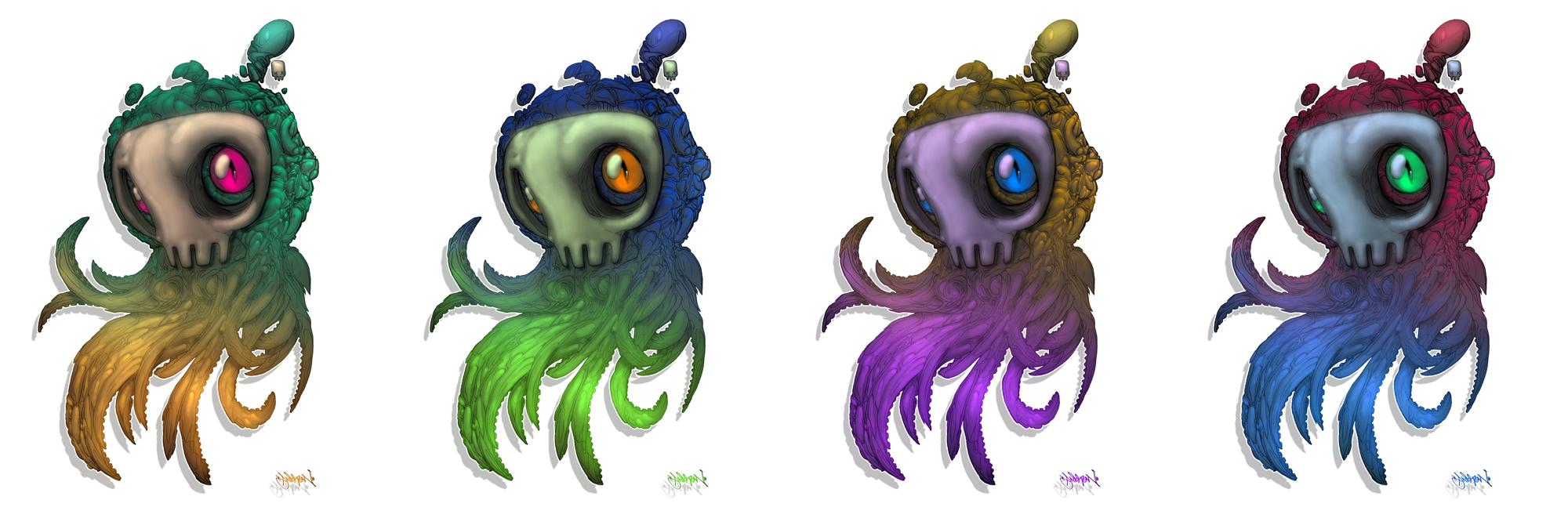 Skull_Squids by Gambear1er