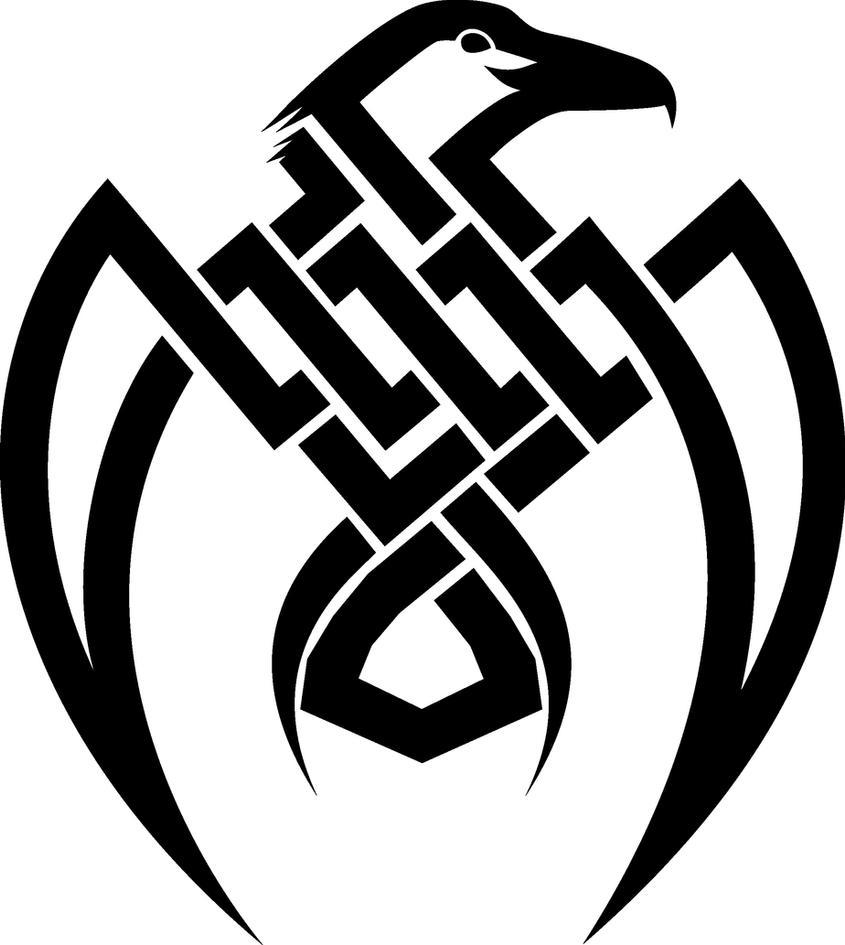 raven tribal tattoo by jessimariemccarthy on deviantart. Black Bedroom Furniture Sets. Home Design Ideas