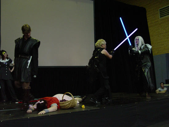 Sephiroth Cosplay +lightsabers by Trixen