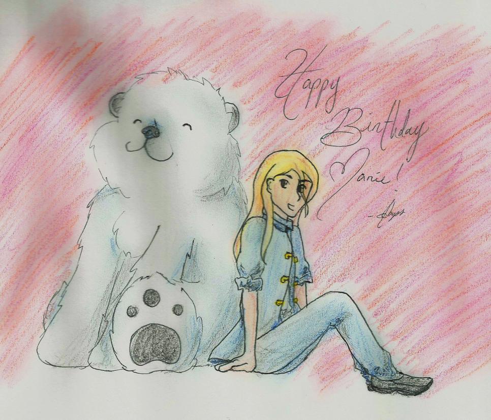 Happy Birthday Marie by leayana