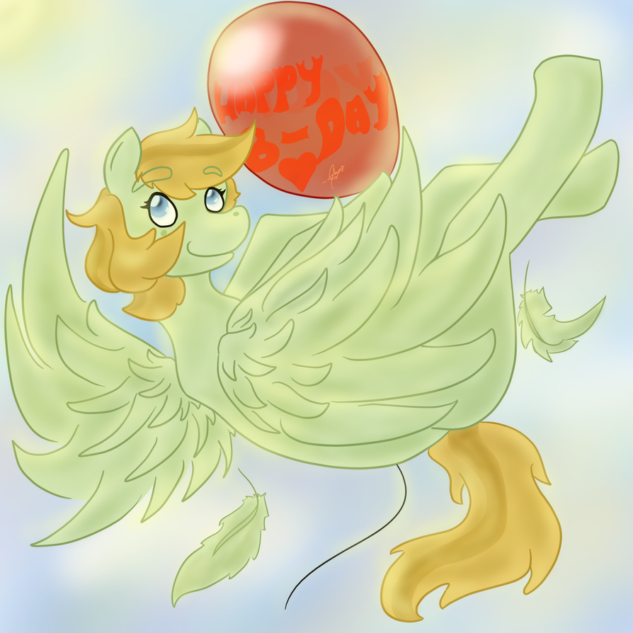 Birthday Balloon by leayana