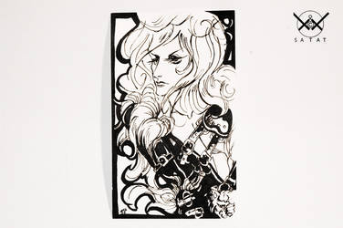 bishi on index card by satat
