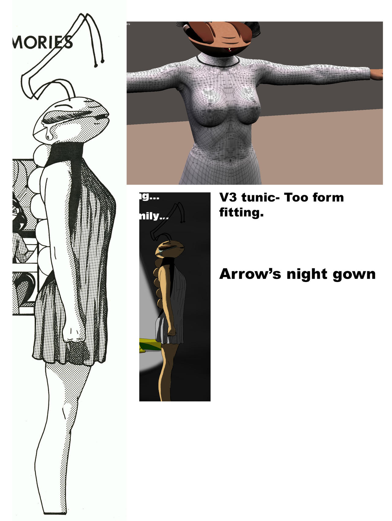 Arrow's nightgown- W.I.P.