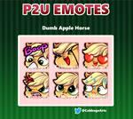 Dumb Apple Horse Emotes (P2U) by Cabbage-Arts