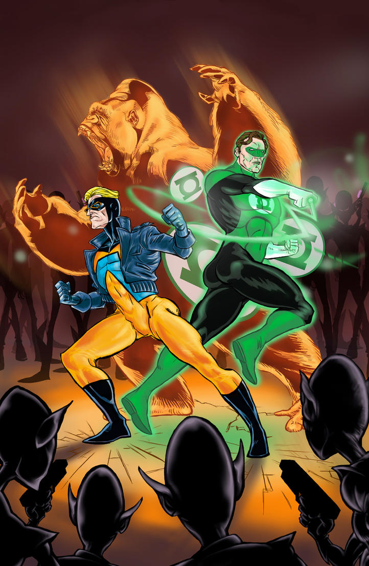 Animal Man / Green Lantern - Issue #2 Cover by ElOctopodo