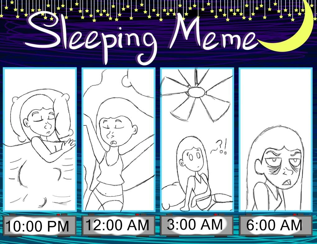 Sleeping meme by girlyrainbowvampire