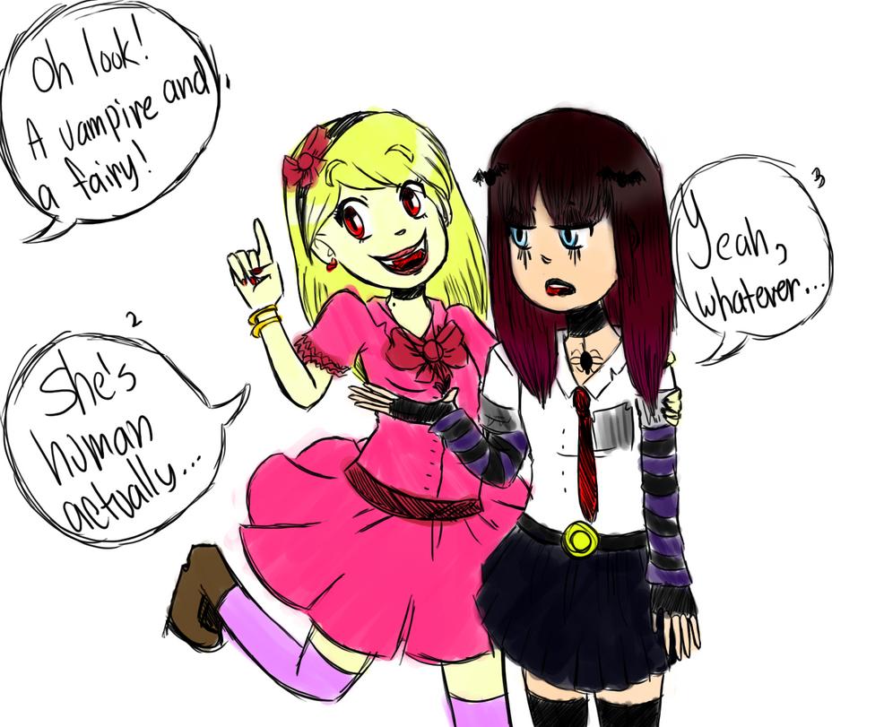 Tumblr Inspired Drawing by GirlyRainbowVampire