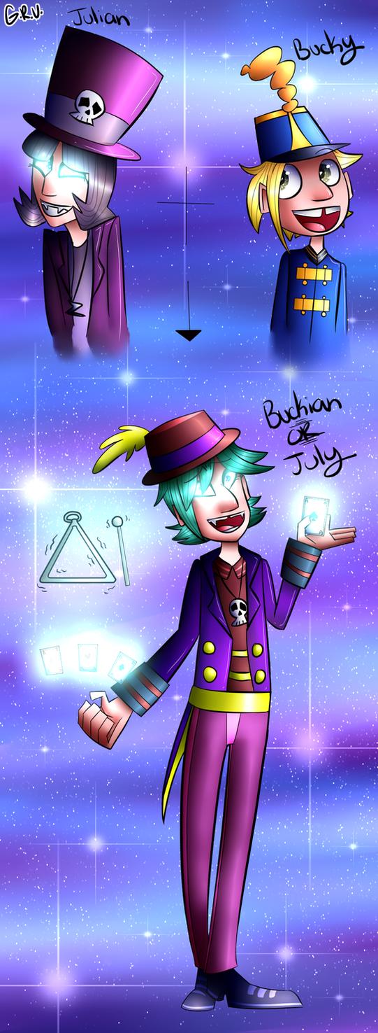 Julian - Bucky fusion (Speedpaint) by GirlyRainbowVampire