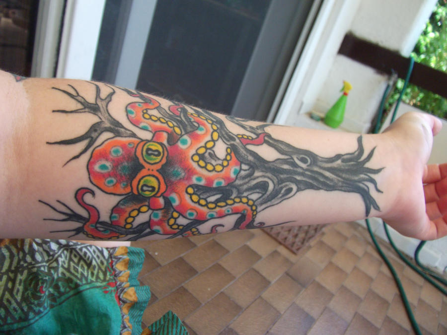 My Tree Octopus Tattoo ID by XXTheVirusXX