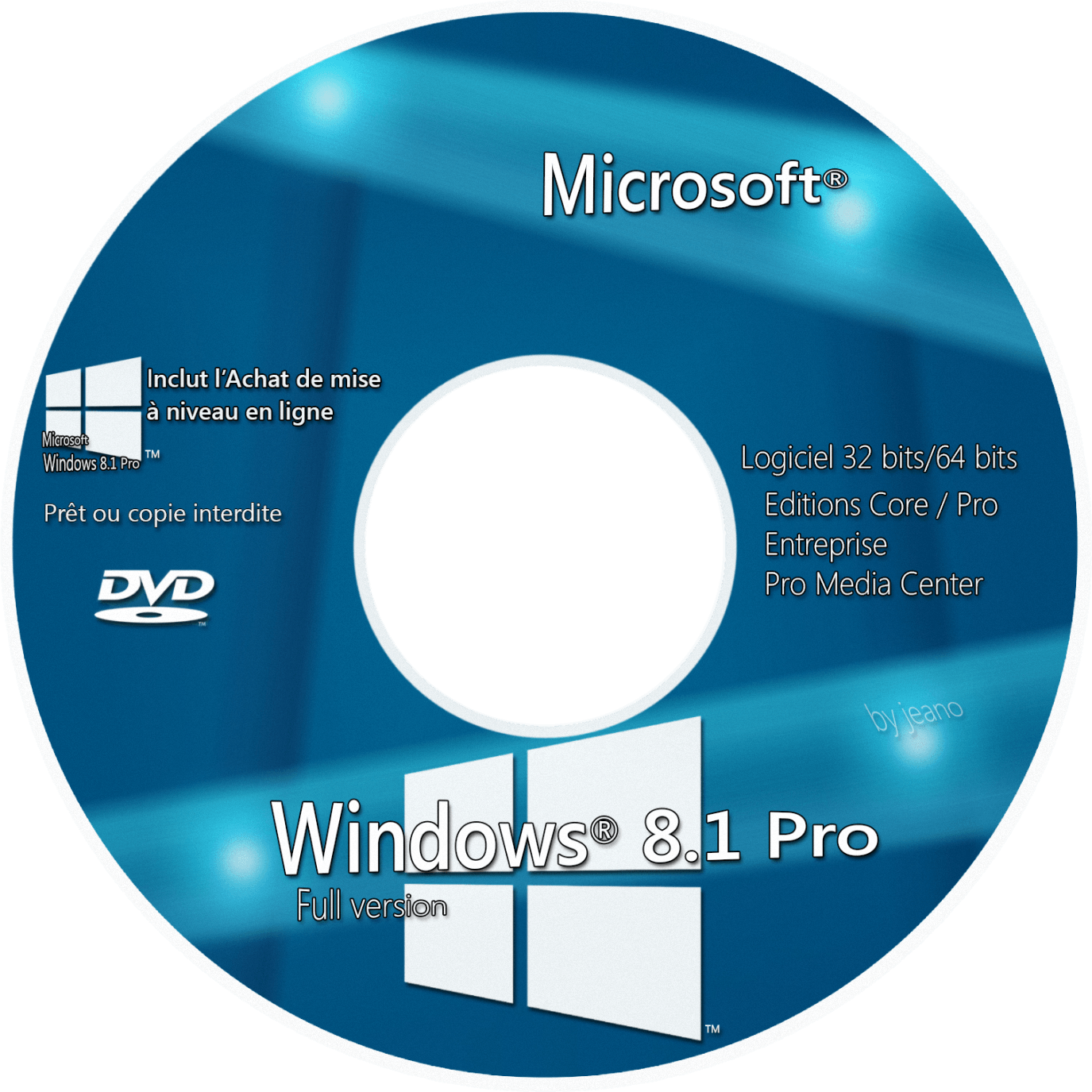 windows 10 dvd label
