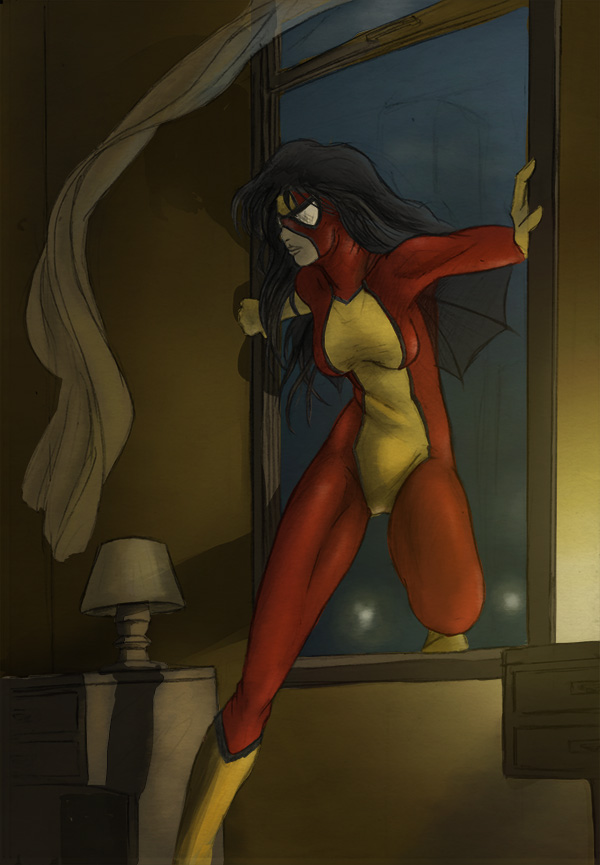 Spiderwoman by Aquemenes1983