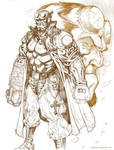 hellboy rough sketch