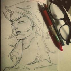 Wonder Woman WIP by mengoloid