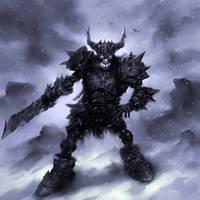 Skeleton Warrior by blackdigger