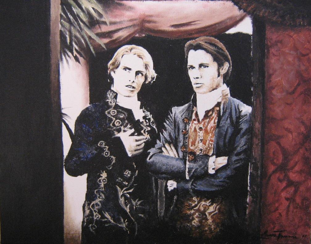 entrevista con el vampiro en oleo y acuarelas Lestat_and_Louis_by_Artem_Anima