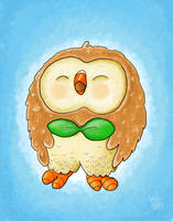 Pokemon: Rowlet by thintoons