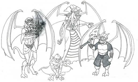 Gargoyles of the Underdark